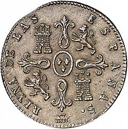 Large Reverse for 4 Maravedies 1840 coin