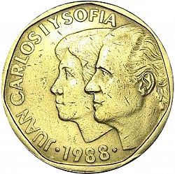 Large Obverse for 500 Pesetas 1988 coin