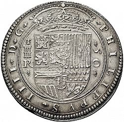 Large Obverse for 50 Reales 1633 coin