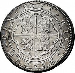 Large Reverse for 50 Reales 1635 coin