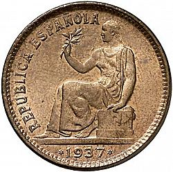 Large Obverse for 50 Céntimos 1937 coin