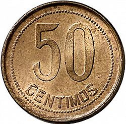 Large Reverse for 50 Céntimos 1937 coin