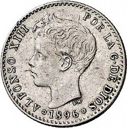 Large Obverse for 50 Céntimos 1896 coin