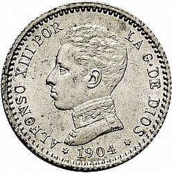 Large Obverse for 50 Céntimos 1904 coin