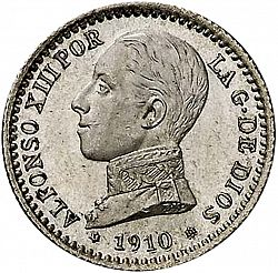 Large Obverse for 50 Céntimos 1910 coin