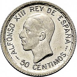 Large Obverse for 50 Céntimos 1926 coin