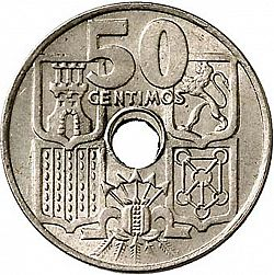 Large Reverse for 50 Céntimos 1949 coin