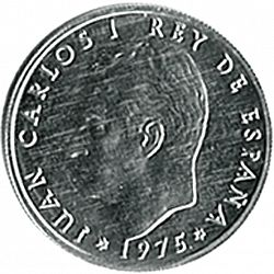 Large Obverse for 50 céntimos 1975 coin