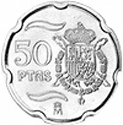 Large Reverse for 50 Pesetas 1999 coin