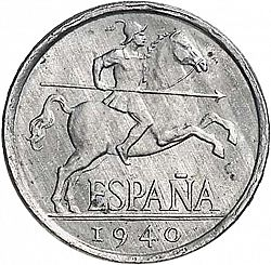 Large Obverse for 5 Céntimos 1940 coin