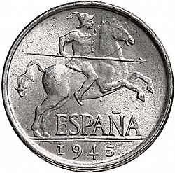 Large Obverse for 5 Céntimos 1945 coin