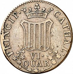 Large Reverse for 6 Cuartos 1814 coin