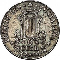 Large Reverse for 6 Cuartos 1843 coin