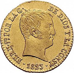 Large Obverse for 80 Reales 1823 coin