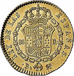 Large Reverse for 80 Reales 1822 coin