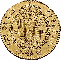 Large Reverse for 80 Reales 1823 coin