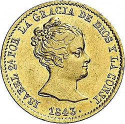 Large Obverse for 80 Reales 1843 coin