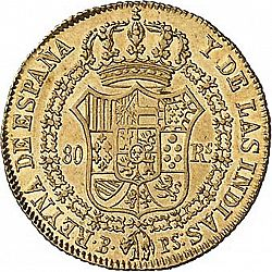 Large Reverse for 80 Reales 1836 coin