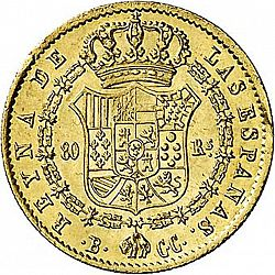 Large Reverse for 80 Reales 1843 coin