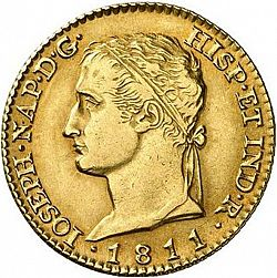 Large Obverse for 80 Reales 1811 coin
