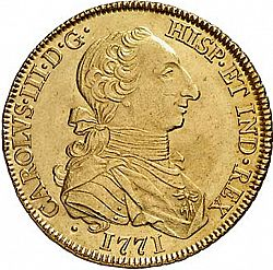 Large Obverse for 8 Escudos 1771 coin