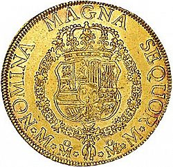 Large Reverse for 8 Escudos 1760 coin