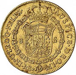 Large Reverse for 8 Escudos 1784 coin