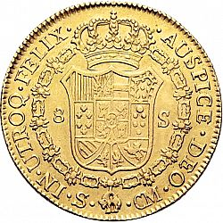 Large Reverse for 8 Escudos 1787 coin