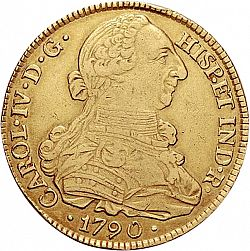 Large Obverse for 8 Escudos 1790 coin