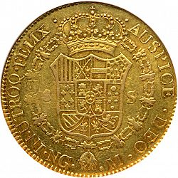 Large Reverse for 8 Escudos 1789 coin