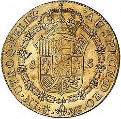 Large Reverse for 8 Escudos 1790 coin