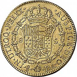 Large Reverse for 8 Escudos 1791 coin