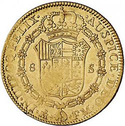 Large Reverse for 8 Escudos 1792 coin