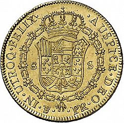 Large Reverse for 8 Escudos 1793 coin
