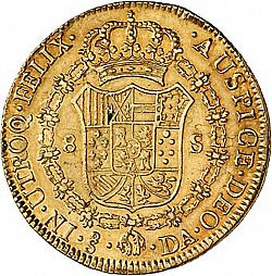 Large Reverse for 8 Escudos 1797 coin