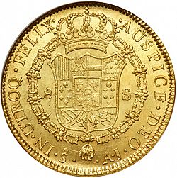 Large Reverse for 8 Escudos 1800 coin