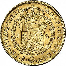 Large Reverse for 8 Escudos 1801 coin