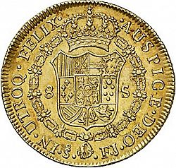 Large Reverse for 8 Escudos 1805 coin