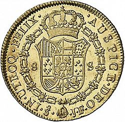 Large Reverse for 8 Escudos 1807 coin