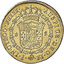 Large Reverse for 8 Escudos 1808 coin