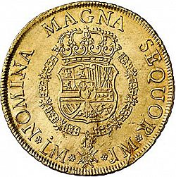 Large Reverse for 8 Escudos 1755 coin