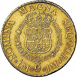 Large Reverse for 8 Escudos 1757 coin