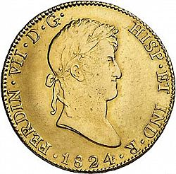 Large Obverse for 8 Escudos 1824 coin