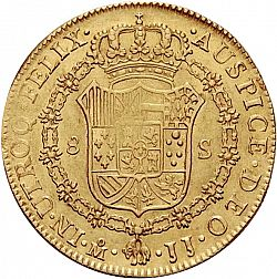 Large Reverse for 8 Escudos 1814 coin