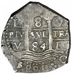 Large Obverse for 8 Reales 1684 coin