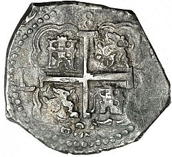 Large Reverse for 8 Reales 1684 coin