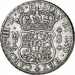 Large Obverse for 8 Reales 1763 coin