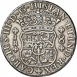 Large Obverse for 8 Reales 1767 coin