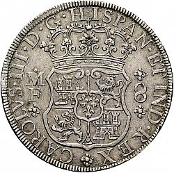 Large Obverse for 8 Reales 1768 coin