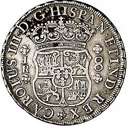 Large Obverse for 8 Reales 1769 coin